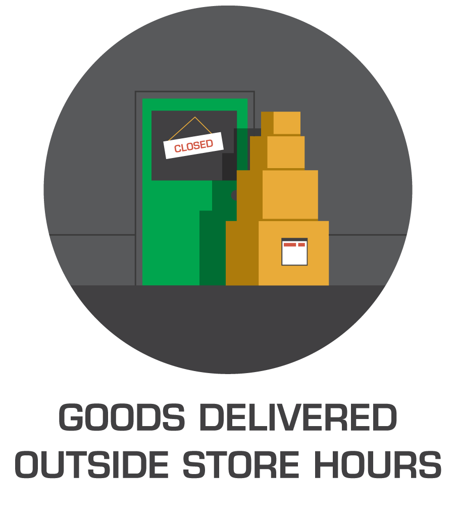 Goods Delivered Outside Store Hours