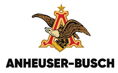 "Anheuser-Busch logo with an eagle encased in the letter ""A"""